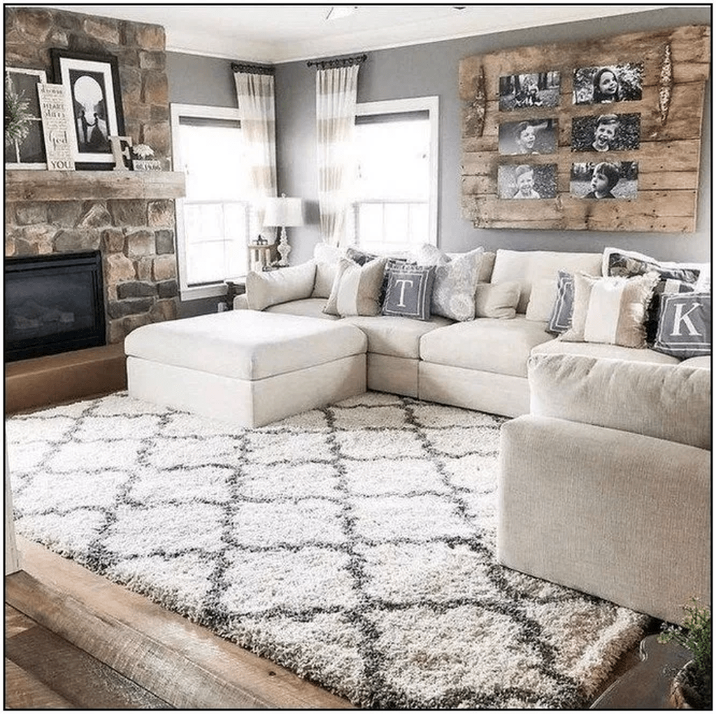 150 Cool And Charming Diy Farmhouse Decorations For Your Dream Home Page1 Kp In 2020 Farm House Living Room Farmhouse Decor Living Room Interior Design Living Room