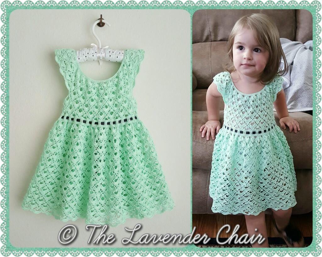 Gemstone Lace Toddler Dress Crochet Pattern Kle