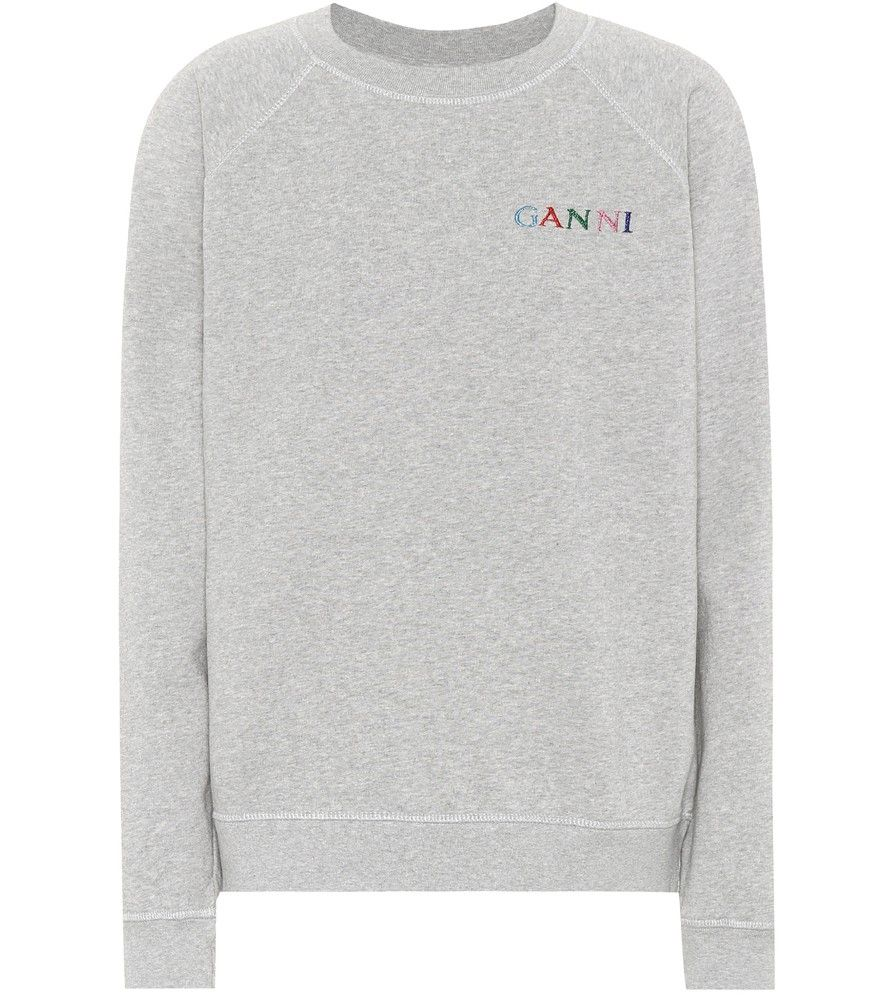 Ganni Lott Isoli cotton sweatshirt Ganni's raglan sleeve