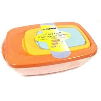 Assorted Colors - 3 Pack Food & Storage Containers (48 Pack) by DDI. $152.82. Please refer to the title for the exact description of the item.. We proudly offer free shipping. We can only ship to the continental United States.. 100% Satisfaction Guaranteed.. High quality items at low prices to our valued customers.. All of the products showcased throughout are 100% Original Brand Names.. Rectangular, nested and shrink wrapped Assorted Colors Sizes: 6.75 Ounce, 2.1 Cup, 5 C...