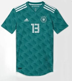 It 39 s green germany 2018 world cup away kit design leaked for Germany mercedes benz soccer jersey