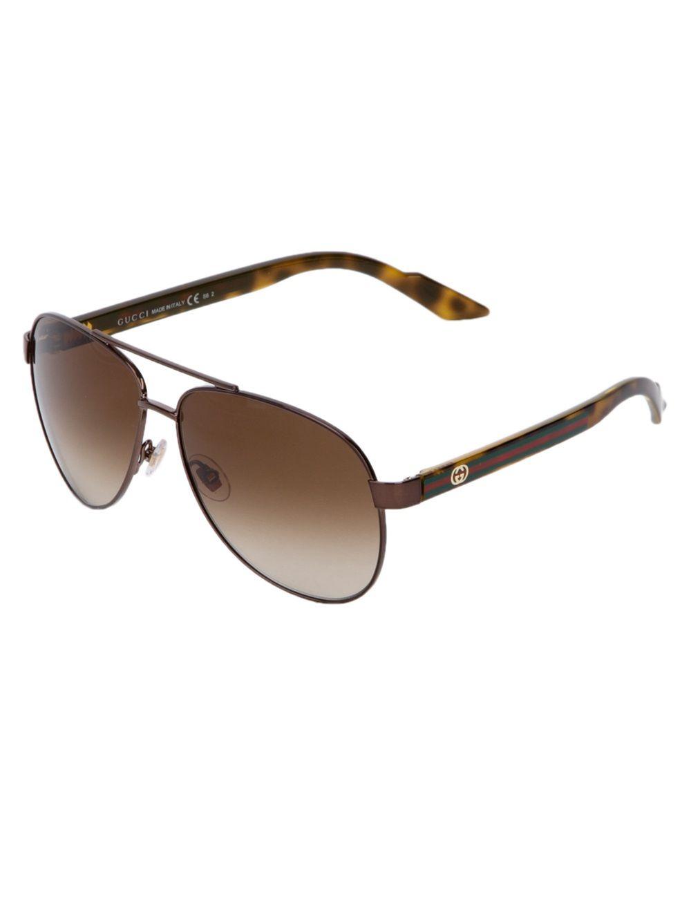 65f233c09 GUCCI - Óculos De Sol Marrom. | MA 07112012 | óculos Gucci, Gucci ...