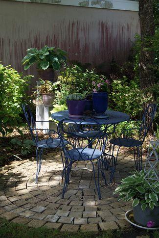 Terrasse ronde en pavés béton Jardin et extérieur Pinterest - pave pour terrasse exterieur