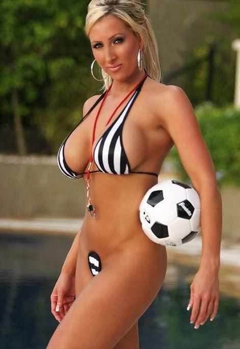 Soccer mom in bikini