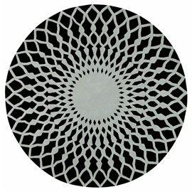Gandia Blasco Trama Black And Grey Round Rug