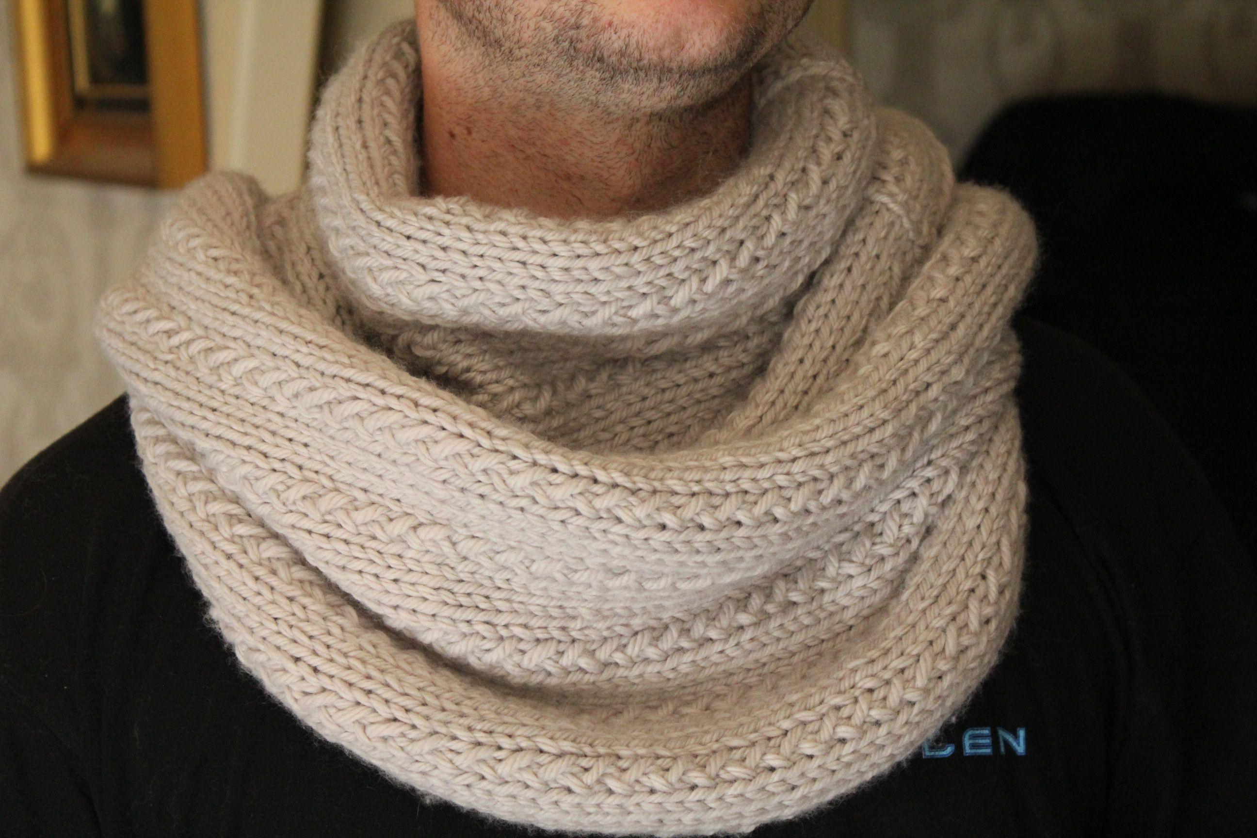 e5c905788b4c tricoter un snood en rond   DIY Laines