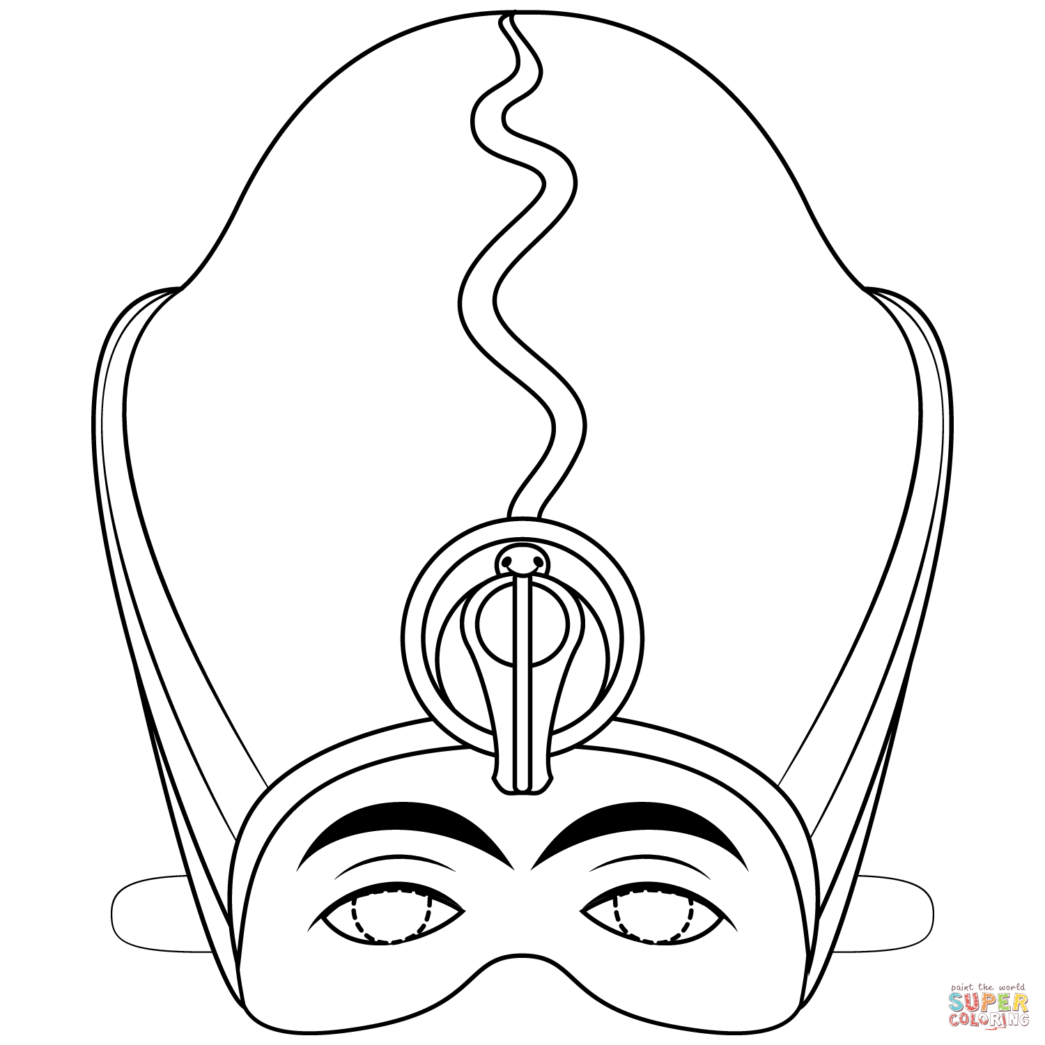 Egyptian Pharaoh Mask Coloring Page Free Printable Coloring Pages Egyptian Mask Ancient Egypt For Kids Coloring Pages