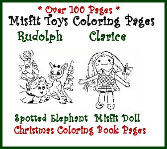 rudolph and island of misfits toys christmas coloring book