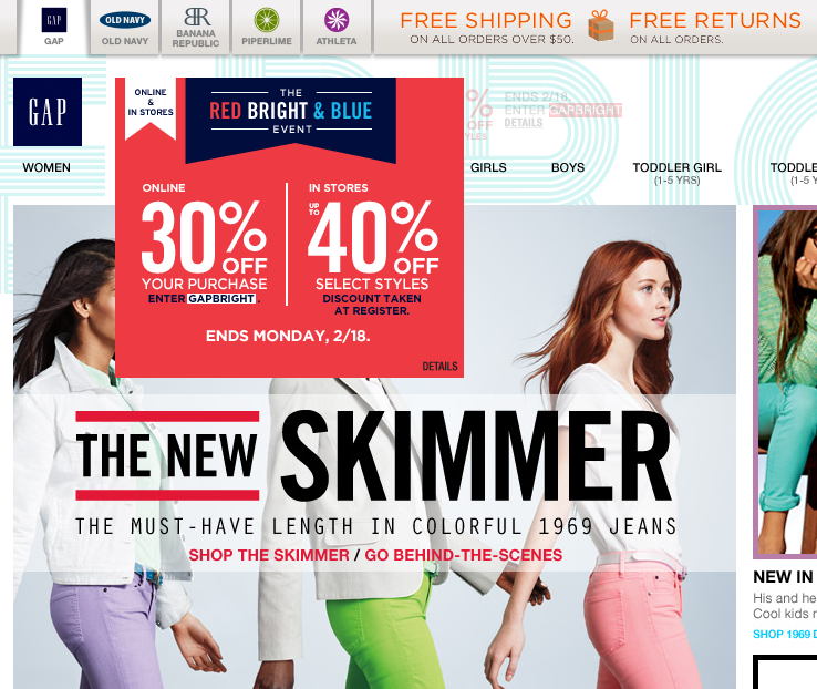 30 Off Online At Gap Via Promo Code Gapbright Up To 40 In Store Coupon Via The Coupons App Coupon Apps App Coupons