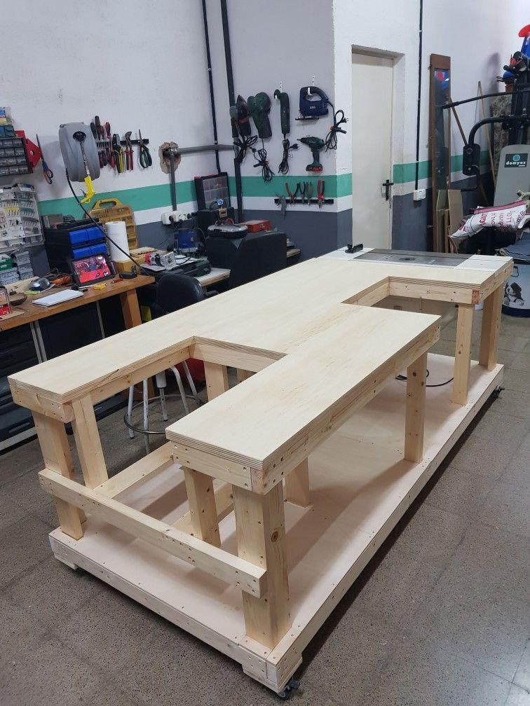 Garage table Garage work bench, Woodworking bench plans