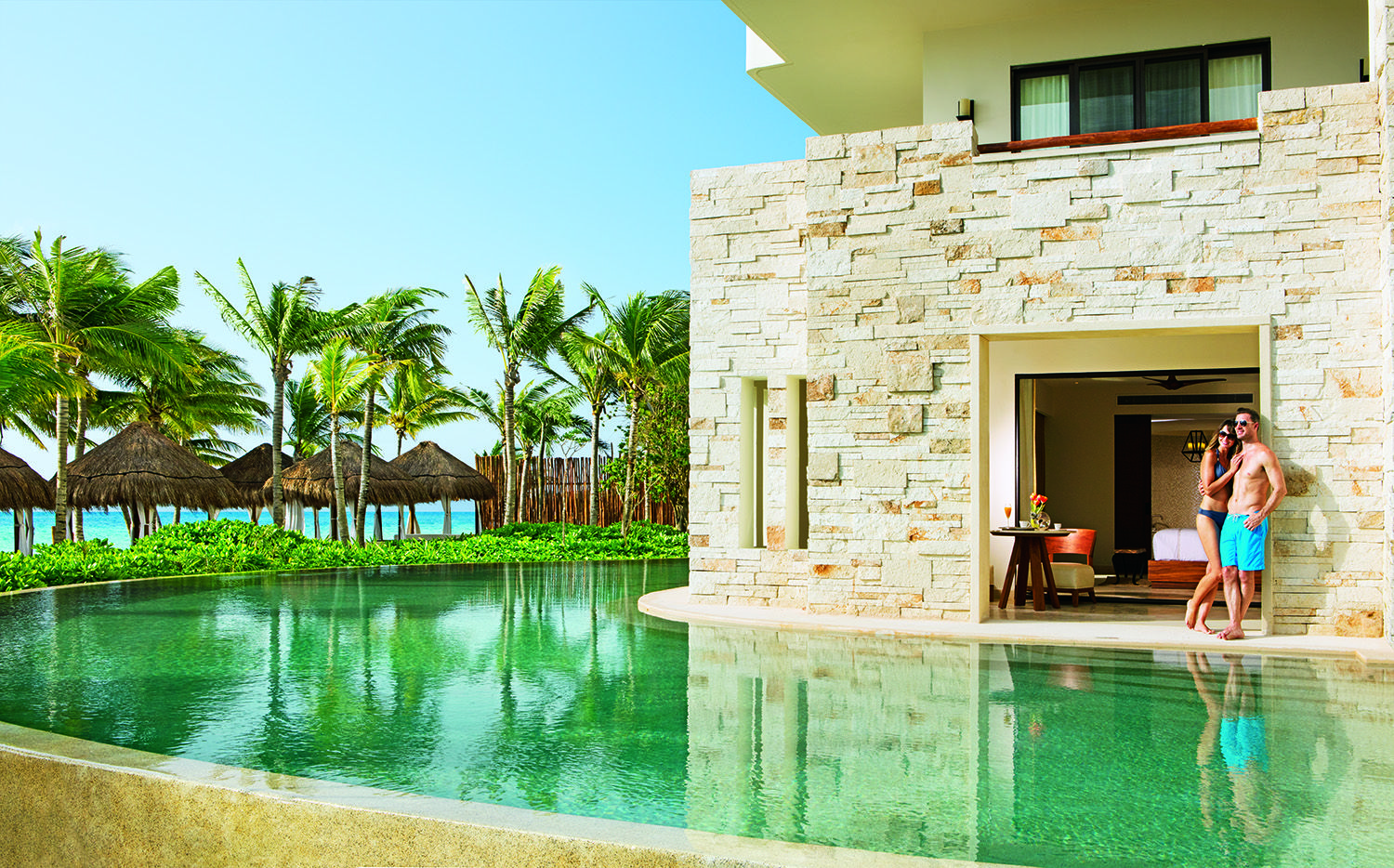 swim-out suite at secrets akumal riviera maya in mexico. | swim-out