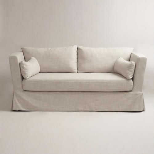Bon Seating   Linen Crosby Sofa Slipcover   World Market   Linen, Crosby, Sofa,  Slipcover