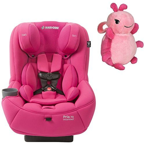 Maxi Cosi Pria 70 Convertible Car Seat With Easy Clean Fabric And Pink Lullaby To Go Travel Plush