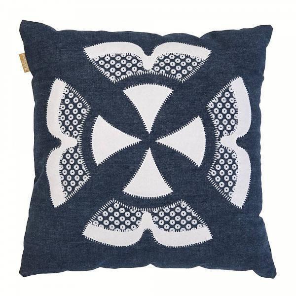 Het Woonrecept   Webshop - Kussens & zo - Malagoon Sierkussen Ishara cushion blauw