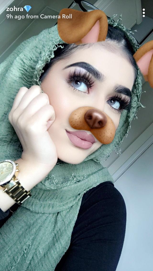 Zohra Lahib on Snapchat Hijab makeup, Contour makeup, Makeup
