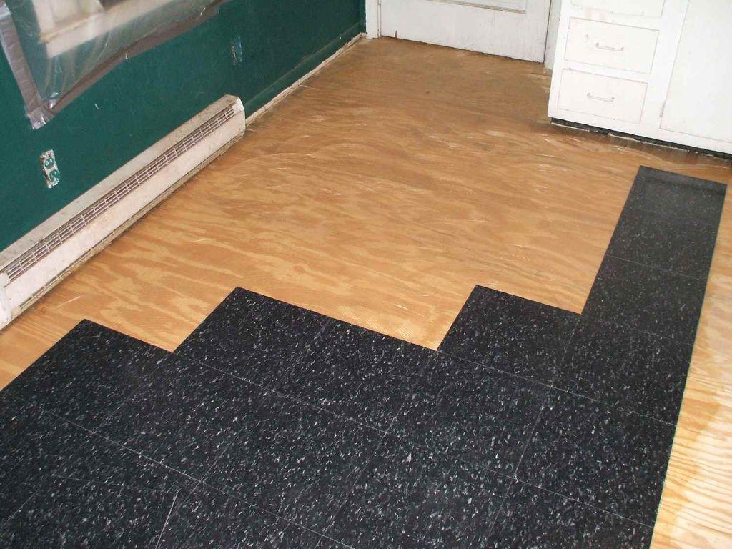 Installing Floating Vinyl Sheet Flooring Asbestos Design