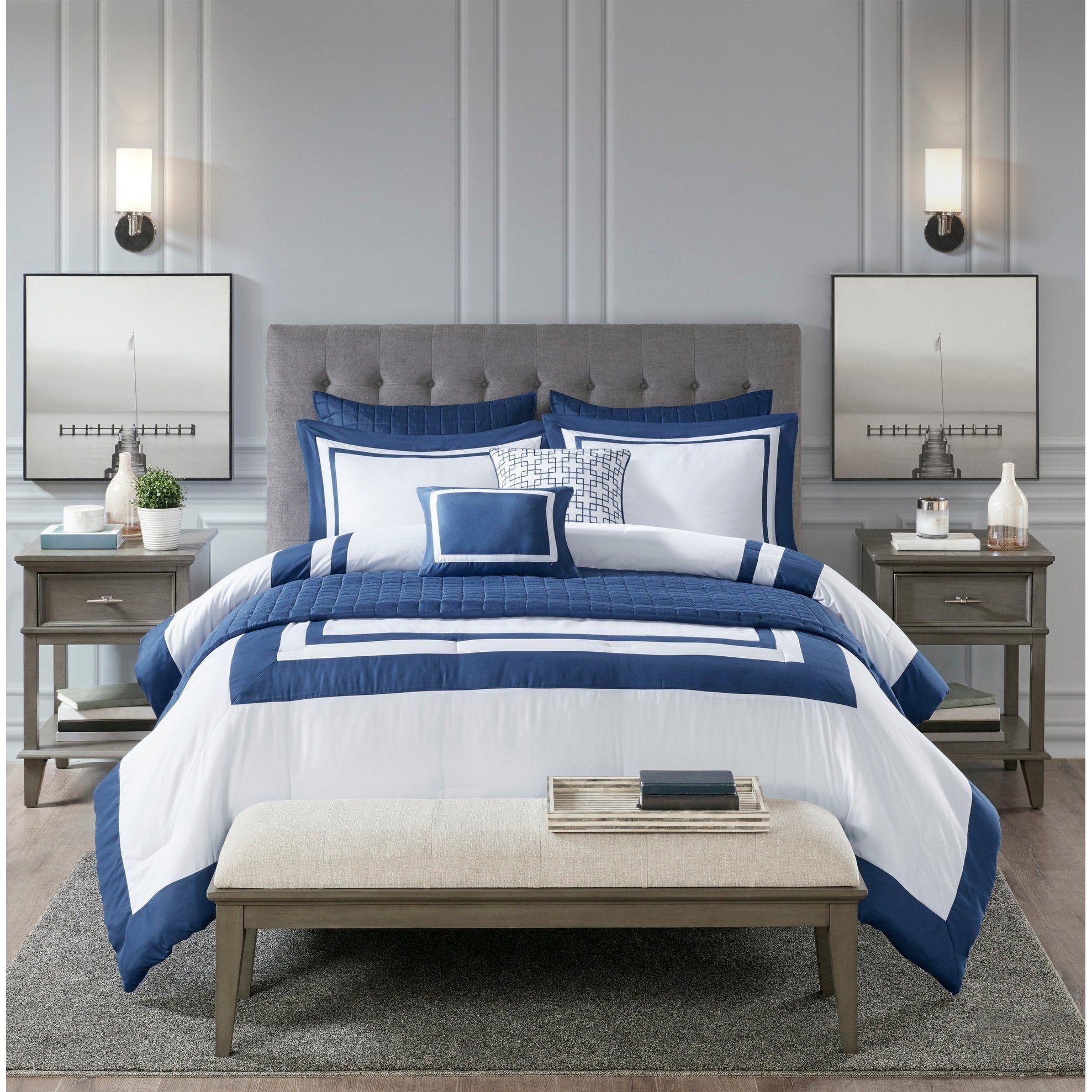 Madison Park Lexington 8 Piece Comforter And Coverlet Set