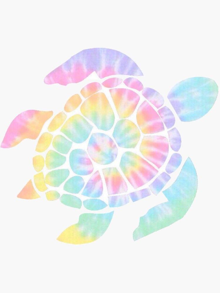 Tie Dye Turtle Sticker By Maddiemjf In 2021 Tie Dye Wallpaper Tye Dye Wallpaper Iphone Wallpaper Pattern