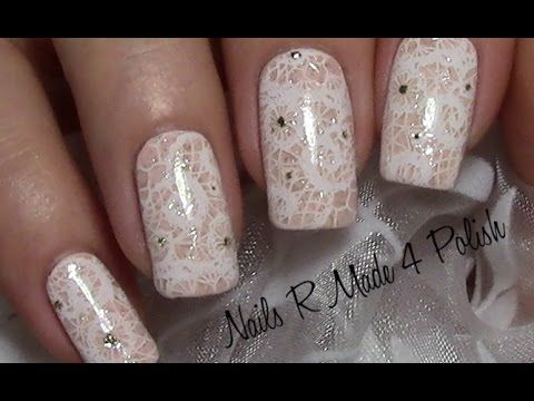 dezentes spitzenmuster stamping nageldesign easy chic nail art design nail art by nails. Black Bedroom Furniture Sets. Home Design Ideas