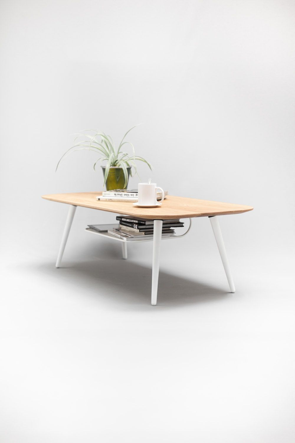 Coffee table, center table , living room table made of solid oak ...