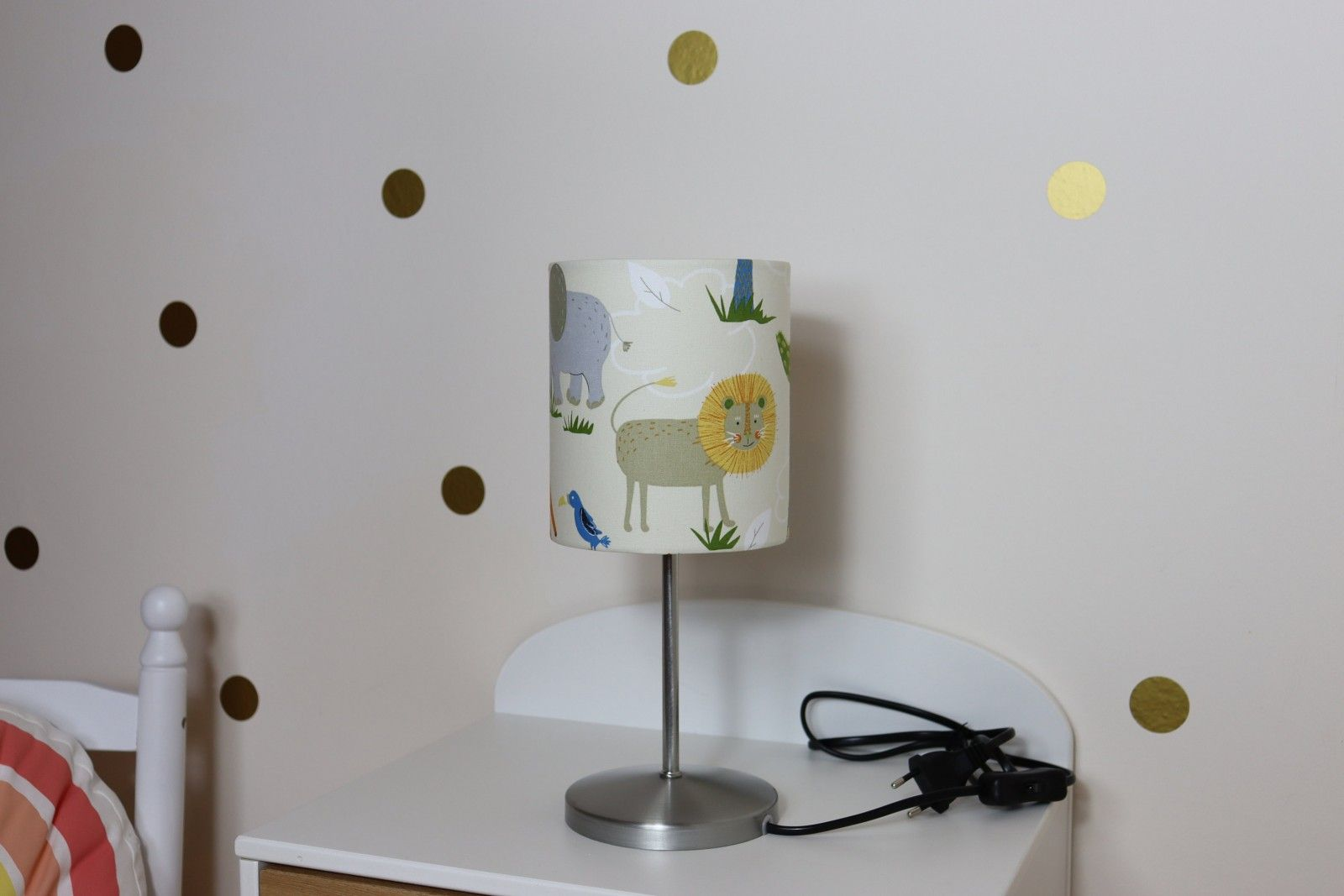 Nachttischlampe Tischlampe Kinderzimmer Tiere Safaritiere