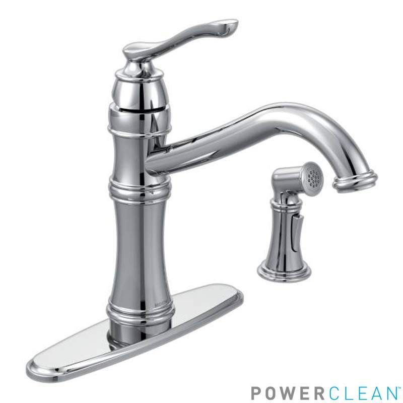View the Moen 7245 Belfield High-Arc Single Handle Kitchen Faucet ...