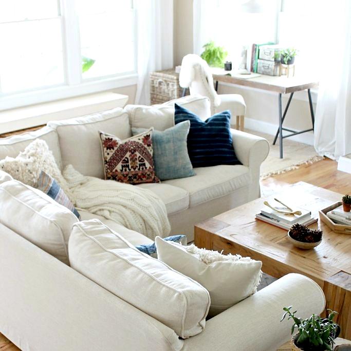 Ikea Ektorp Sectional Sofa In Comfort Works Liege Biscuit Linen
