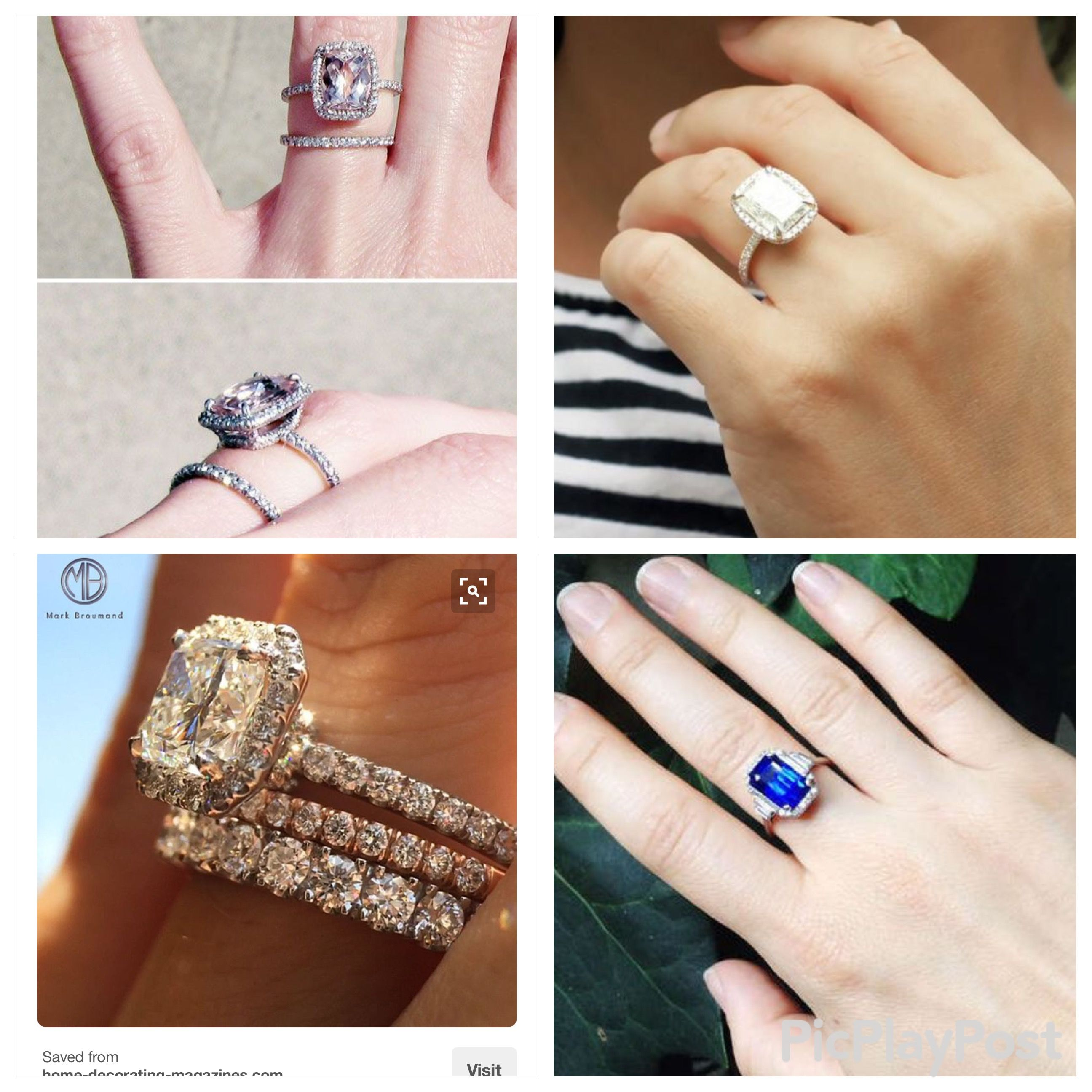 Ring goals. Engagement, wedding, and anniversary stacked