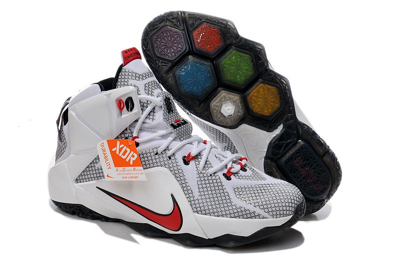 huge selection of f5baf 7adc5 Lebron 12 Cavs Home White Red PE | shoes | Nike basketball ...