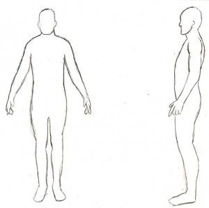 Printable Male Body Outline