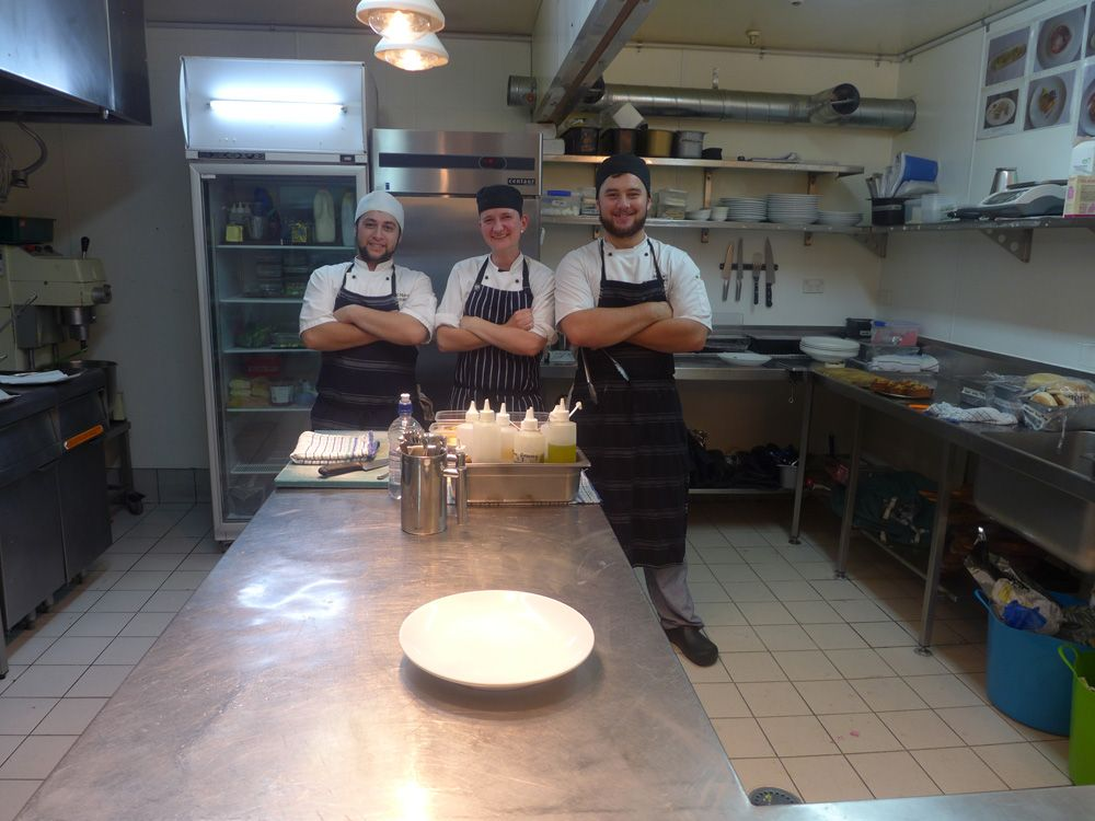 Te Maroro kitchen team