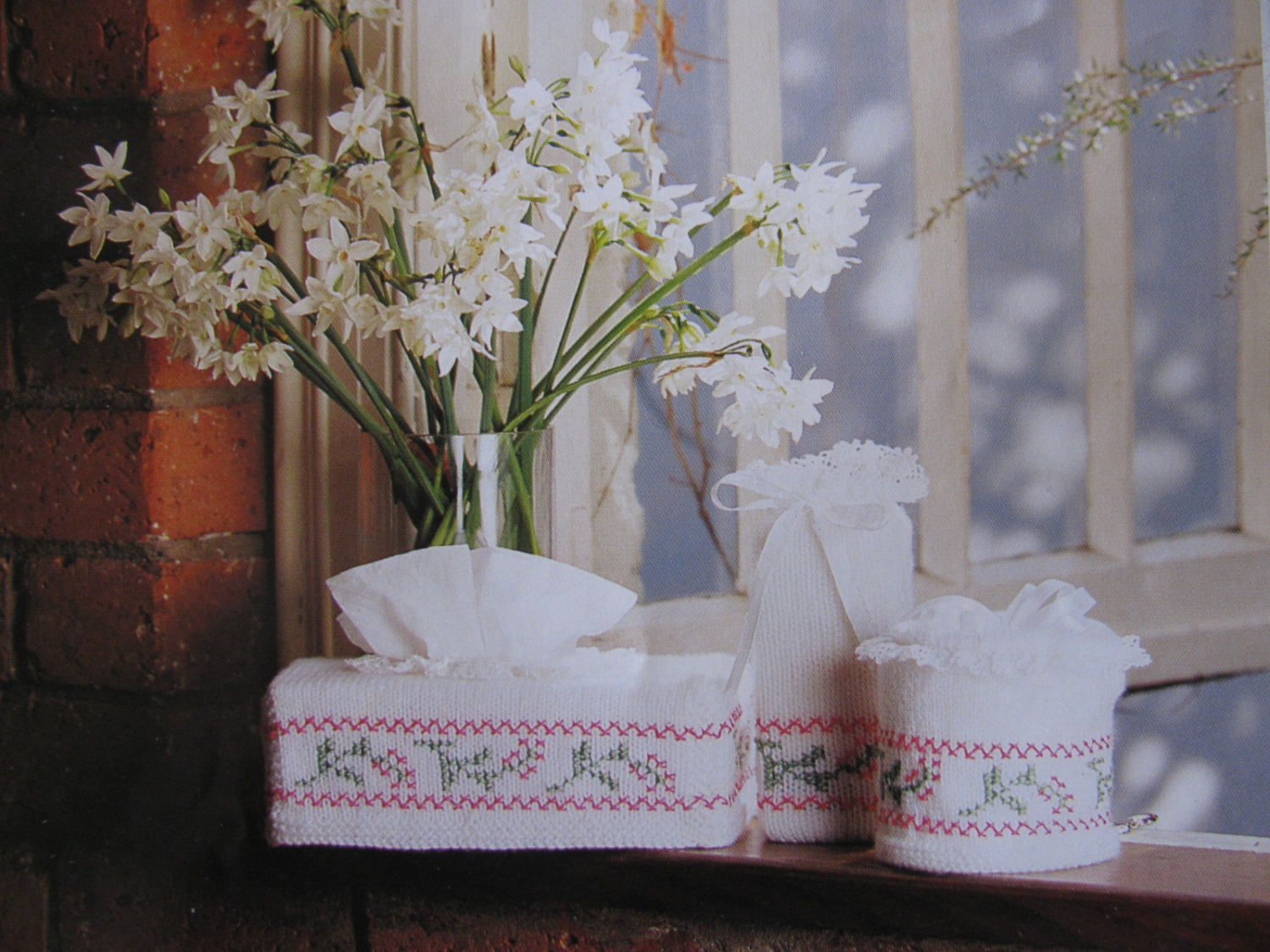 Bathroom Set Knitting Pattern PDF Instant Download Tissue Box Cover ...