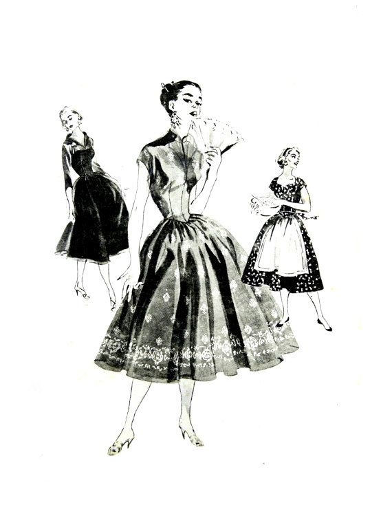 1956 Butterick 7617 Junior Miss and Misses' by patternscentral