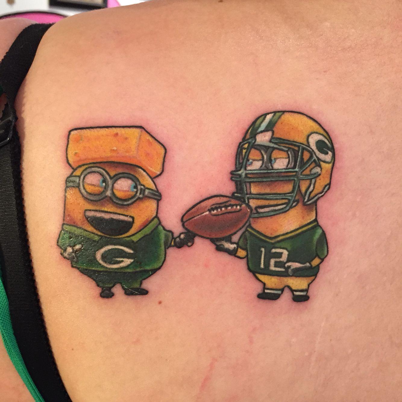 Pin By Renee Olsen On Tatoo Green Bay Packers Tattoo Minion Tattoo Football Tattoo