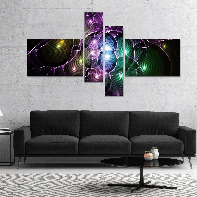 Designart umulti color fractal space circlesu abstract canvas art