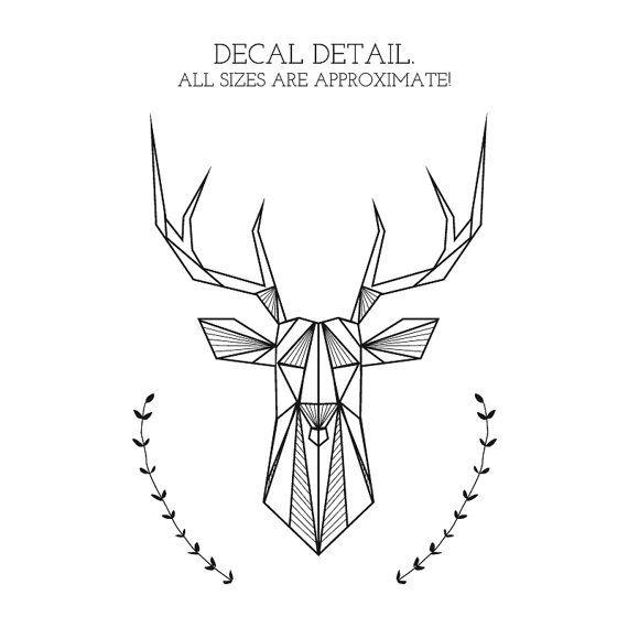 Bedroom Wall Decal Geometric Deer And Antlers Door NaturesRhapsody