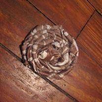 Brown Zebra Print Rosette Hair Clip