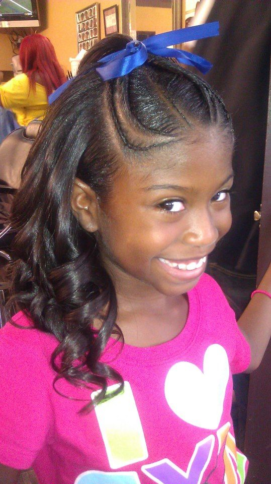 Kids Twists And Shirley Temple Curls Hair Braids More