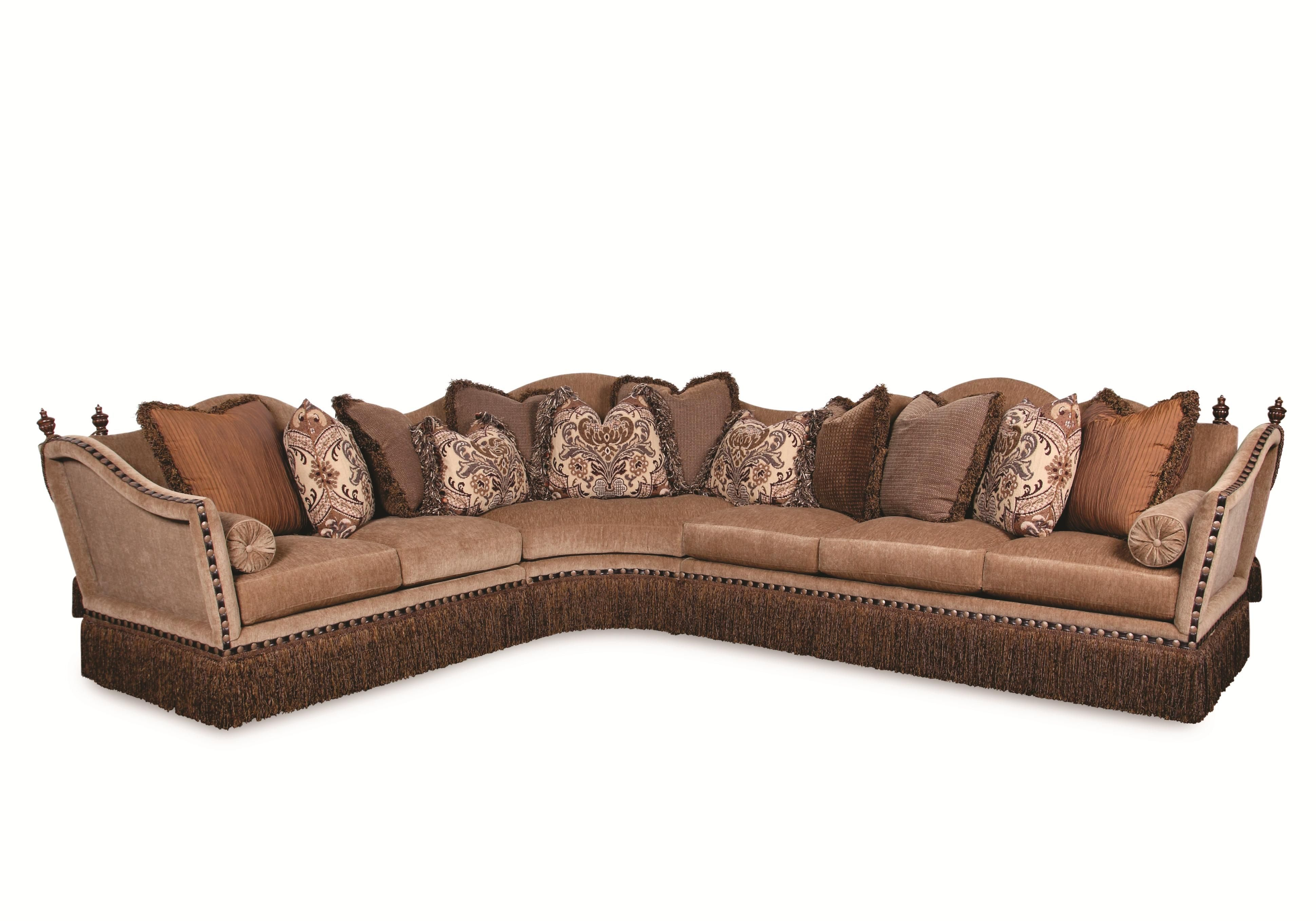 Lorraine Fringed Sectional Sofa by Rachlin Classics