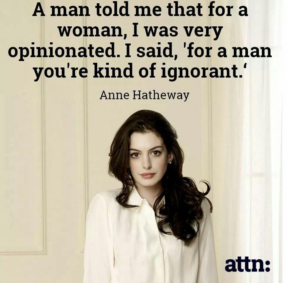 Anne Hatheway is so cool