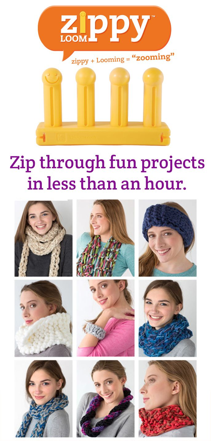 Zippy Loom Projects | Loom knitting, Patterns and Books