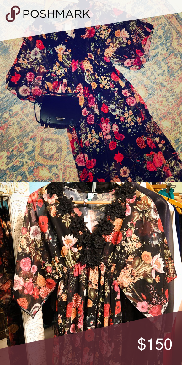 dfea58bcfc46 Rio Laina Maxi by Farm Rio {Anthropologie} By Farm Rio a pretty floral maxi  with a full black slip. The dress is a pullover style with a fitted  elasticated ...