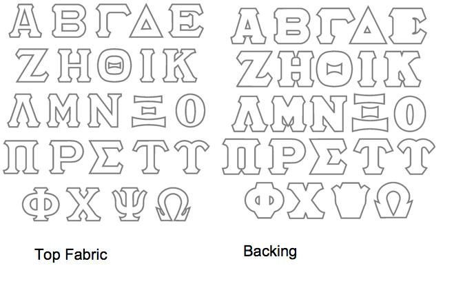 Make your own Greek Letters! Perfect to iron on any shirt