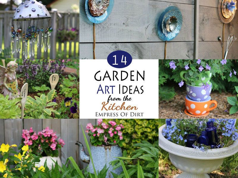 14 garden art ideas from the kitchen