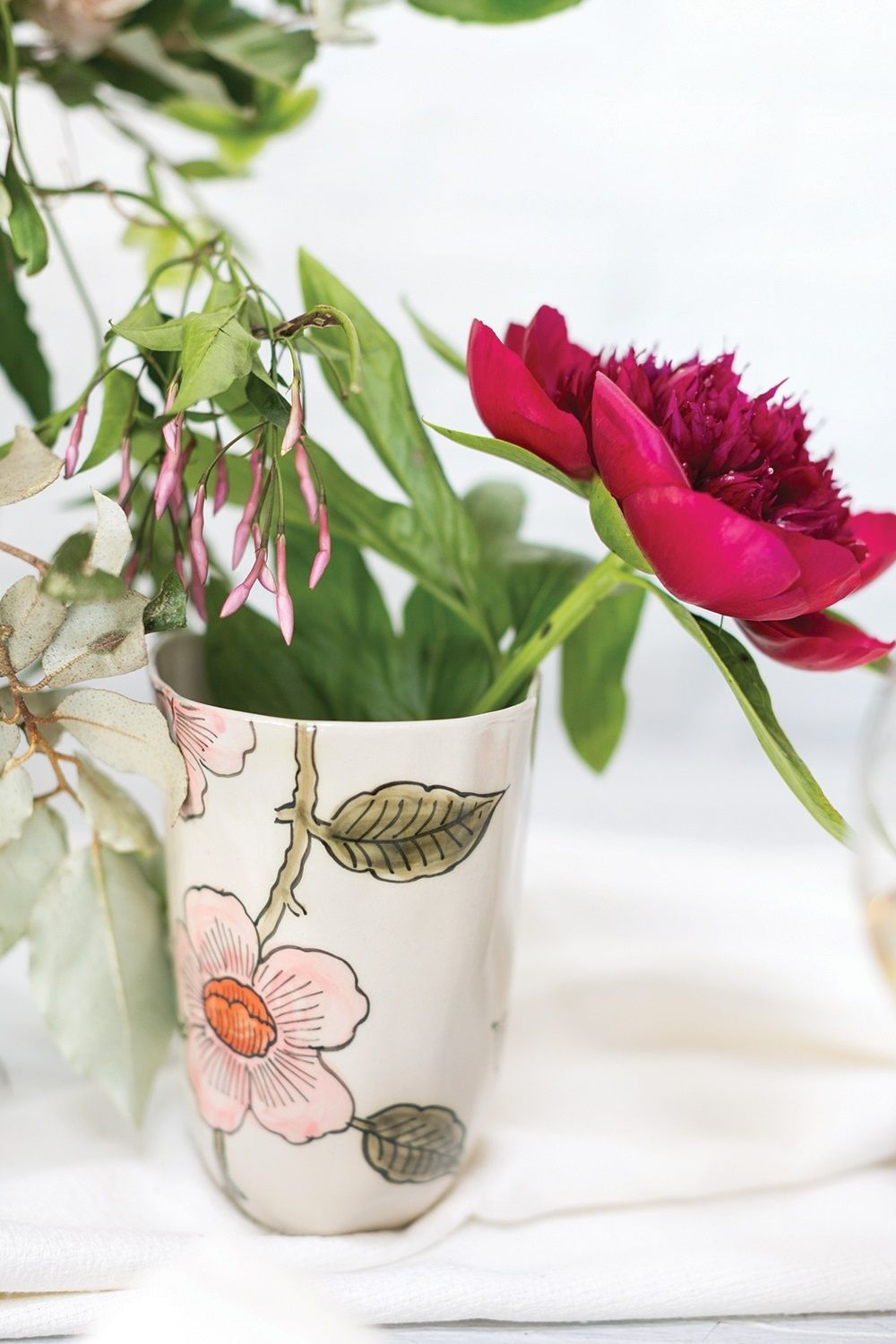 Little daisy collection 45x 6 vase by accent decor floral the little daisy collection vase featuring peony and jasmine by accent decor in atlanta georgia izmirmasajfo