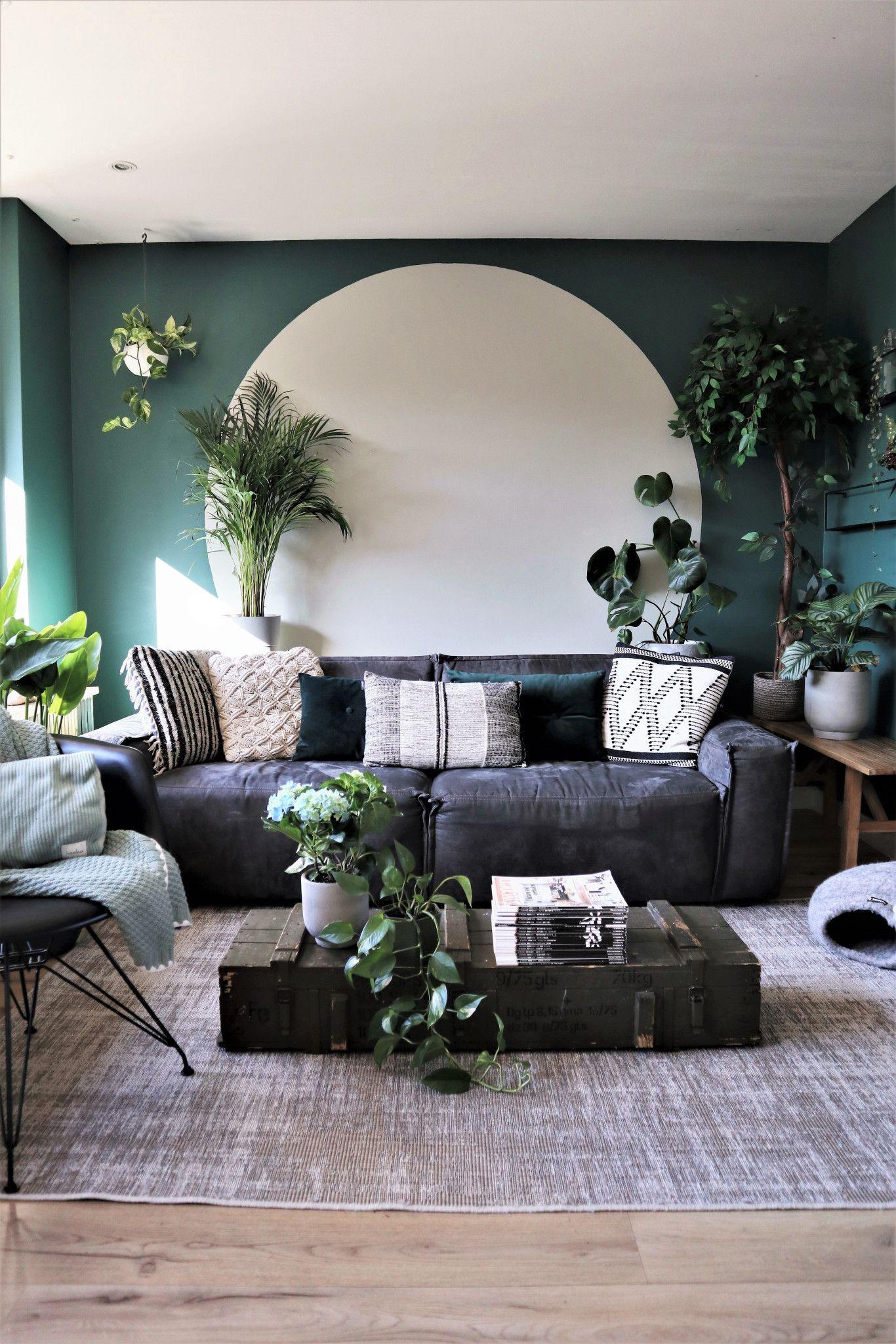 Cirkel Op De Muur Verven In 5 Simpele Stappen Interieur Lifestyle Muur Verven Thuisdecoratie Home Deco