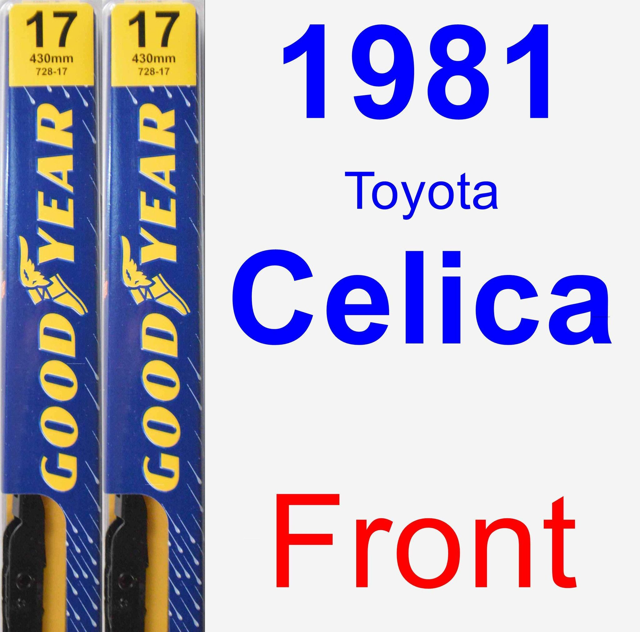front wiper blade pack for 1981 toyota celica premium