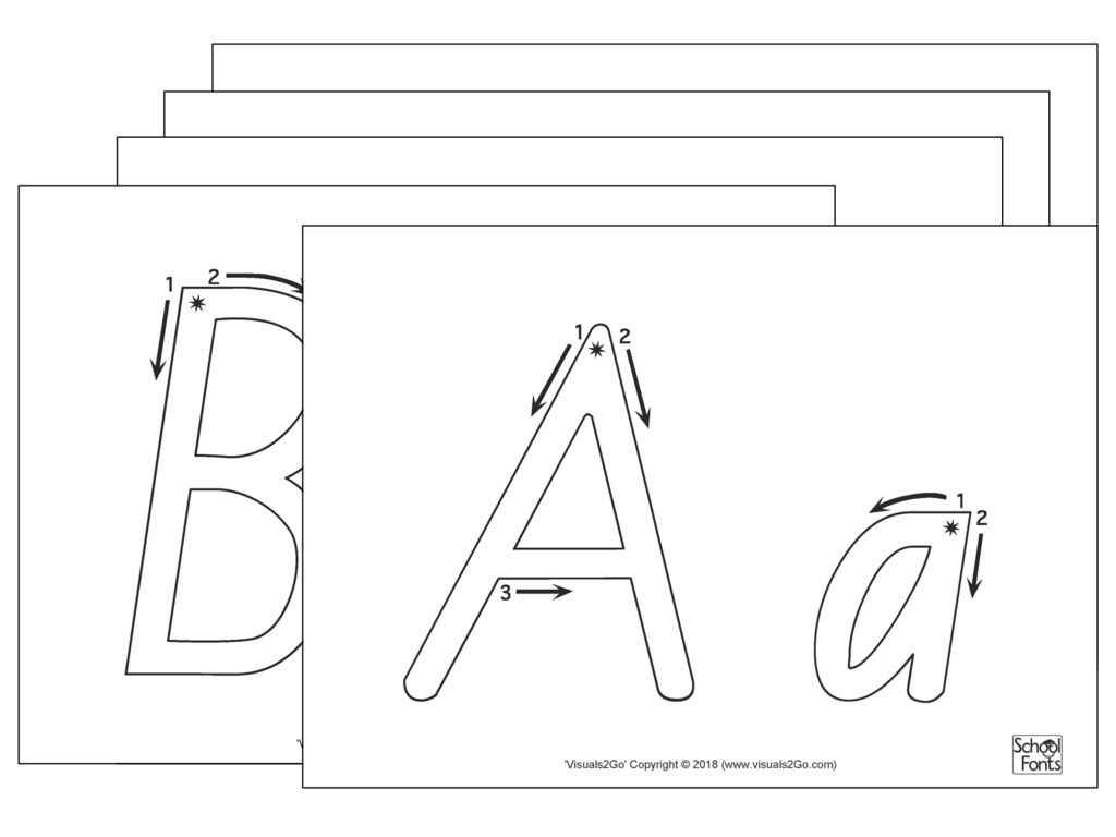 Extra Large Handwriting Letter Sheets