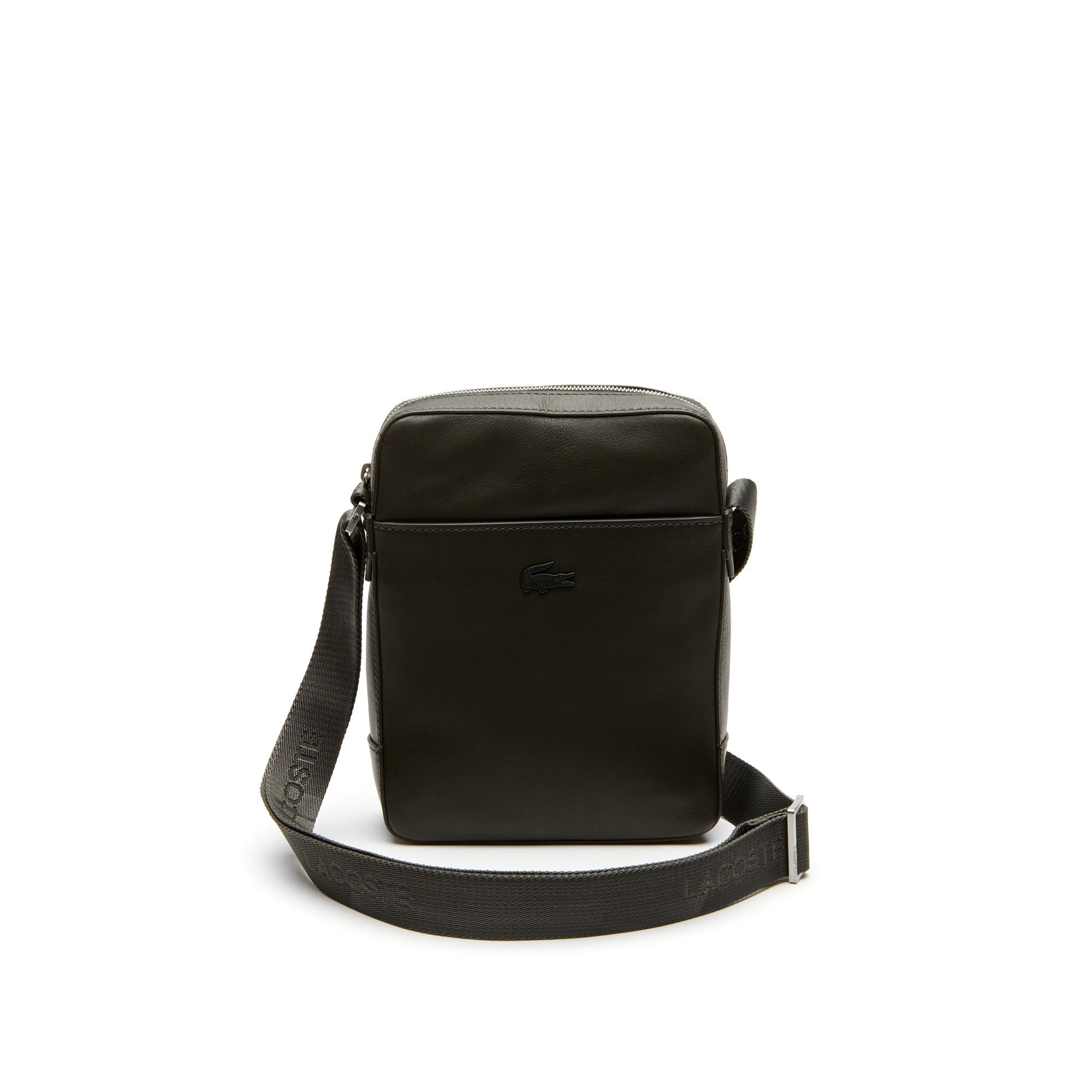 LACOSTE Men s Full Ace Soft Leather Bag - forest night.  lacoste  bags   0140e20b3bbda