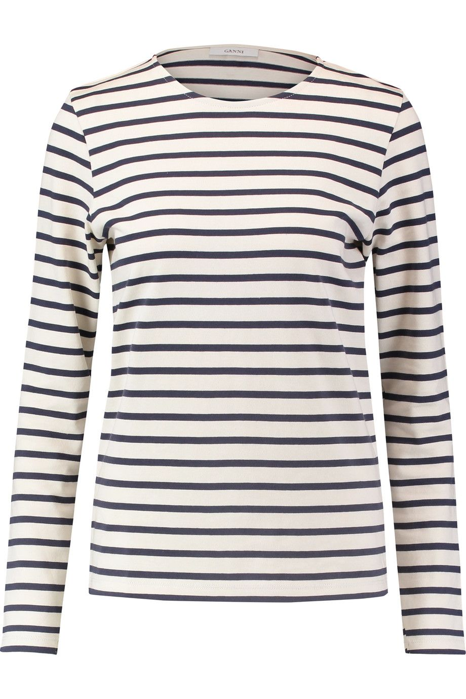 219a998cfa GANNI Striped Cotton Top. #ganni #cloth #top   Ganni   Tops, House ...